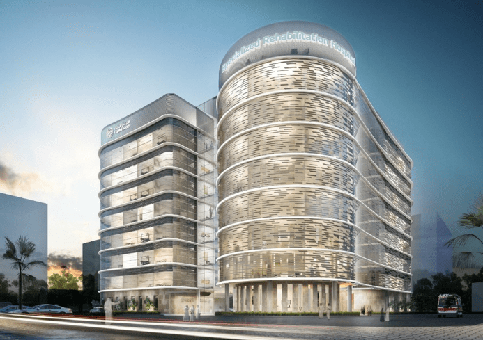 Specialist Rehabilitation Hospital in Abu Dhabi Concept Drawing